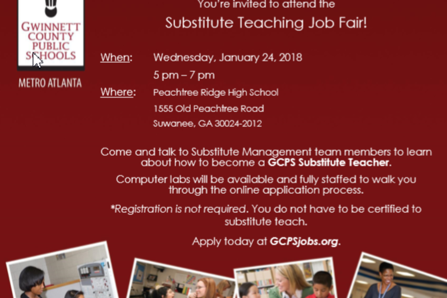 Attend the Substitute Teaching Job Fair January 24th